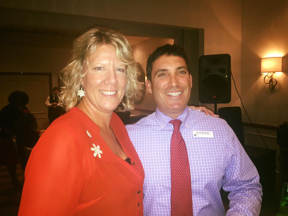 December 2015 Holiday:  Donna Shroy (SFCMN board member) and  Jarrett Gonzalez (Select Physical Therapy)